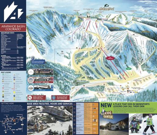 Arapahoe Basin Ski Area Piste Map