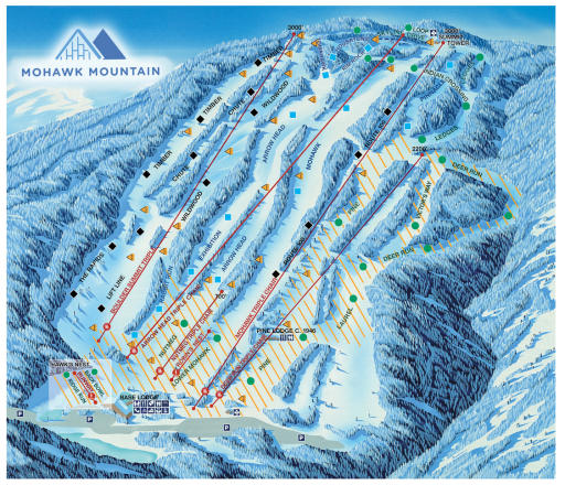 Mohawk Mountain Mapa tras