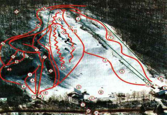 Woodbury Ski Area Piste Map