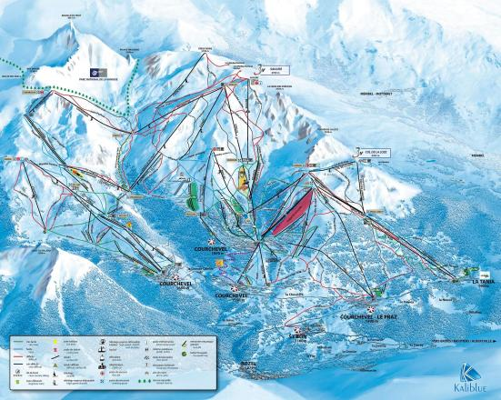 Courchevel Mappa piste