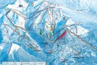 Courchevel Mapa tras