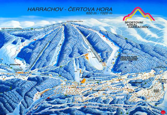 Harrachov Trail Map