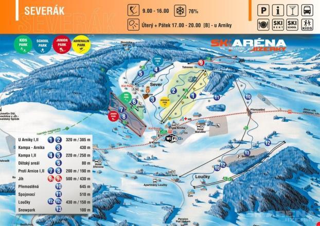 Severák Trail Map