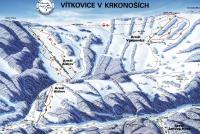 Vítkovice / Aldrov Piste Map