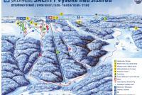 Vysoké nad Jizerou - Šachty Mapa zjazdoviek