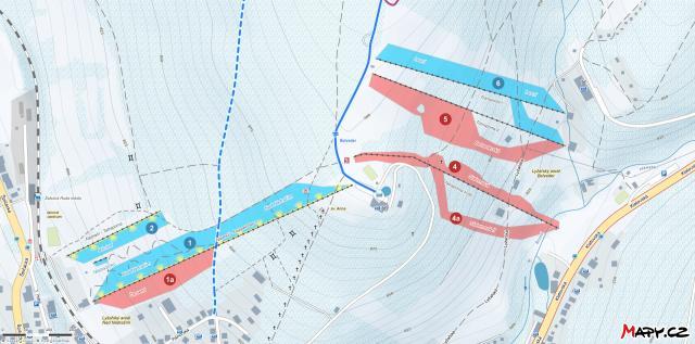 Železná Ruda - Nad nádražím - Belveder Mapa tras