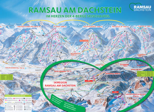 Ramsau am Dachstein Trail Map