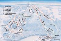 Bjursås SkiCenter Mapa tras