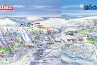 Lindvallen/Högfjället Mapa zjazdoviek