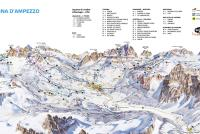 Cortina d'Ampezzo Mapa zjazdoviek