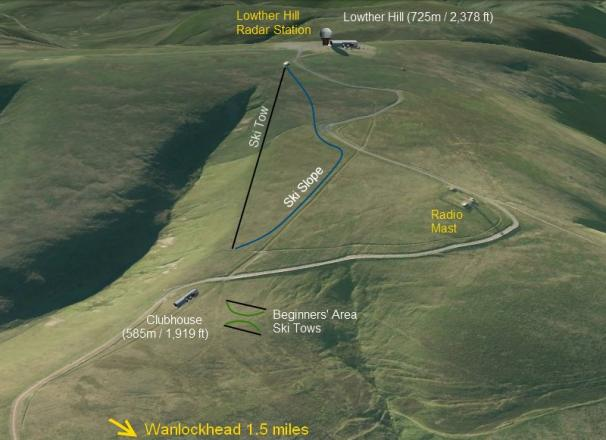Lowther Hills Ski Club Piste Map