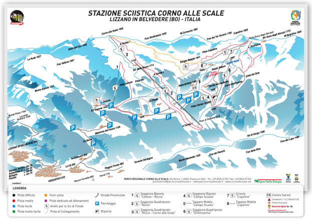 Corno alle Scale Trail Map