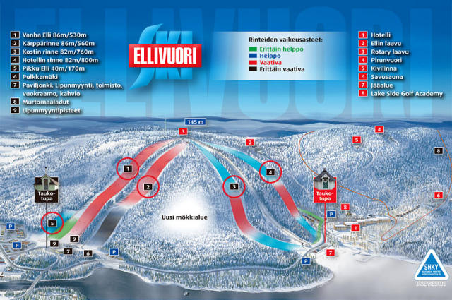 Ellivuori Trail Map