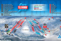 Ellivuori Piste Map