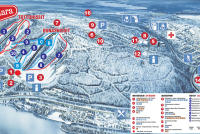 Ounasvaara Plan des pistes