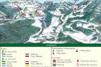 Le Désert d'Entremont Piste Map