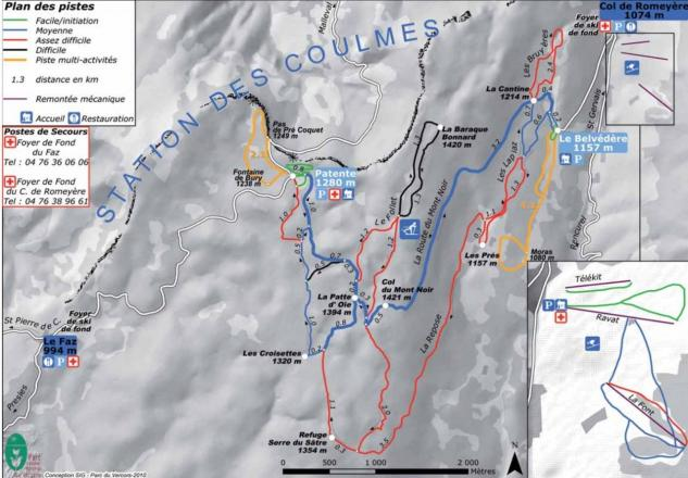 Les Coulmes Piste Map