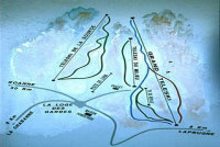La Loge des Gardes Mappa piste