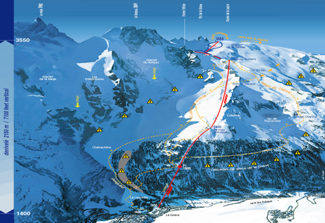 La Grave la Meije Trail Map