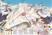 Les Habères  Mapa zjazdoviek
