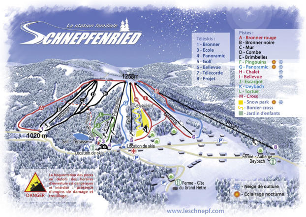 Le Schnepfenried Piste Map
