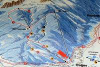 Cogne Piste Map