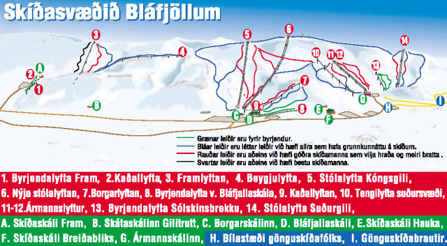 Bláfjöll Trail Map