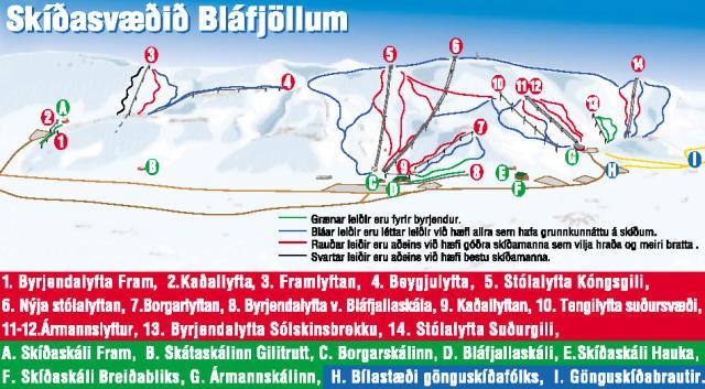 Bláfjöll Piste Map