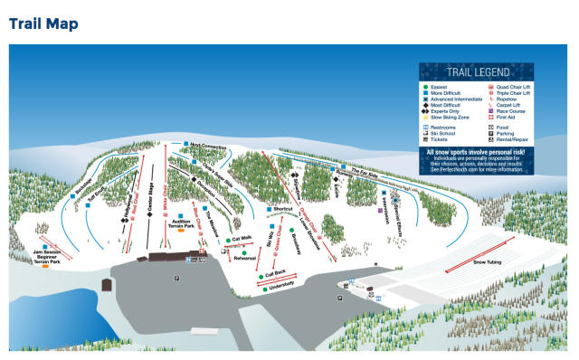 Perfect North Slopes Piste Map
