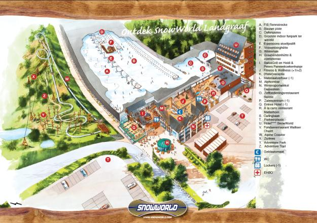 SnowWorld Landgraaf Piste Map