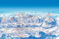 Innsbrucker Nordkettenbahnen Mapa tras