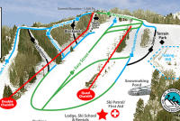 Mt. Crescent Ski Area Mapa tras