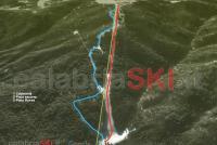 Camigliatello Silano Mapa zjazdoviek