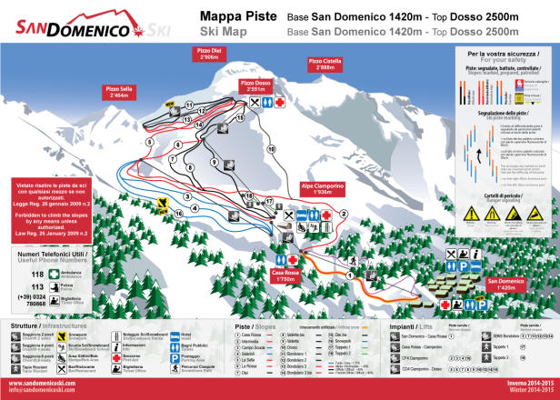 San Domenico di Varzo Piste Map