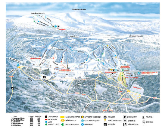 Edsåsdalen Trail Map