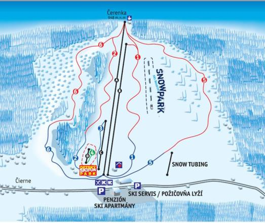 Ski Makov Trail Map