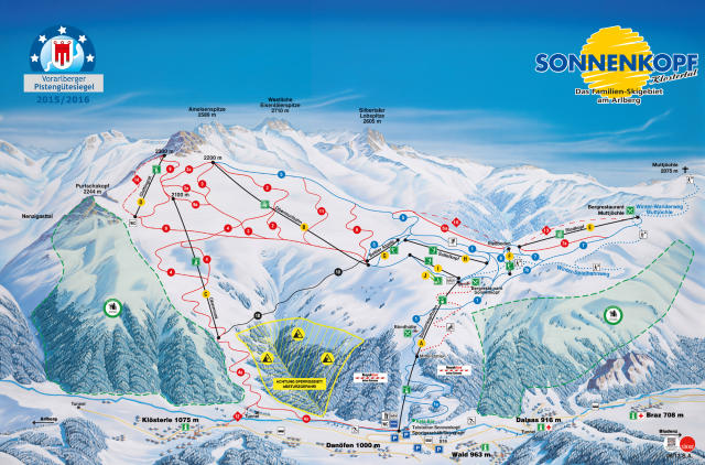 Sonnenkopf Trail Map