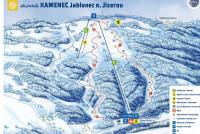 Jablonec n.Jizerou - Kamenec Piste Map