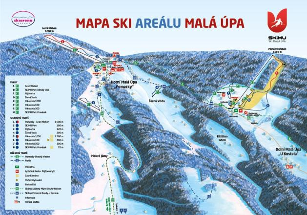 Malá Úpa Trail Map