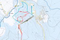 Bouřňák Mapa zjazdoviek