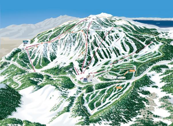 Mt. Rose - Ski Tahoe Piste Map