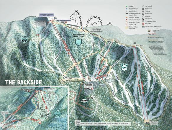 Sierra-at-Tahoe Mapa tras