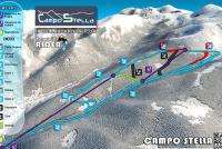Campo Stella - Leonessa Mapa zjazdoviek