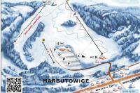 Harbutowice - Szklana Gora Mapa zjazdoviek