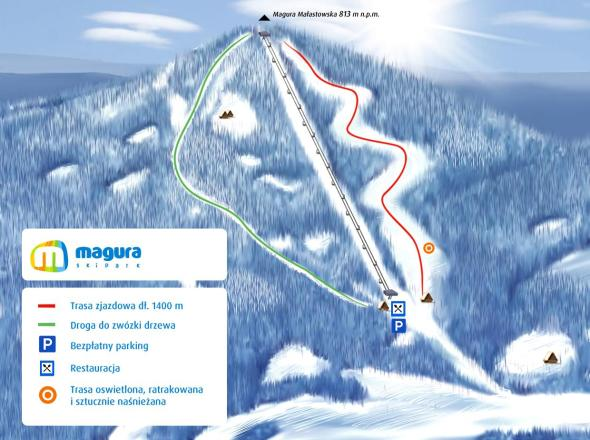 SkiPark Magura Trail Map