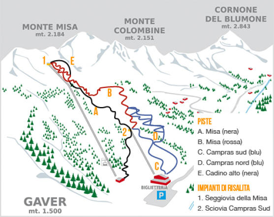 Bagolino - Gaver Trail Map