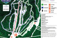 Big Squaw Mountain Ski Resort Mapa tras