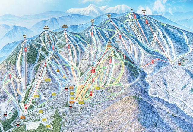 Sunday River Piste Map