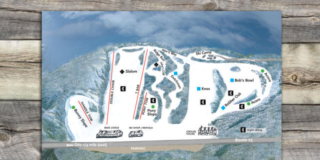 Otis Ridge Ski Area Plan des pistes