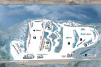 Otis Ridge Ski Area Mapa tras